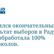 Появился окончательный результат выборов в Раду. ЦИК обработала 100% протоколов.