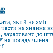 Адвоката, який не зміг здати тести на знання норм права, зараховано до штату Вищої кваліфікаційної комісії суддів України на посаду члена Комісії