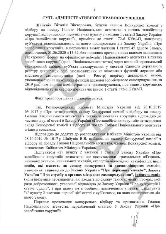 Шабунин протокол о коррупции
